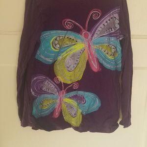 Kids butterfly top